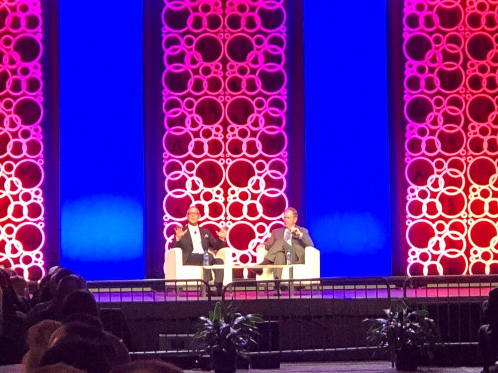 "ISSA Director John Barrett and President George W. Bush met for a ""Fireside Chat"" about leadership, personal growth, and more. We had pretty great seats!"